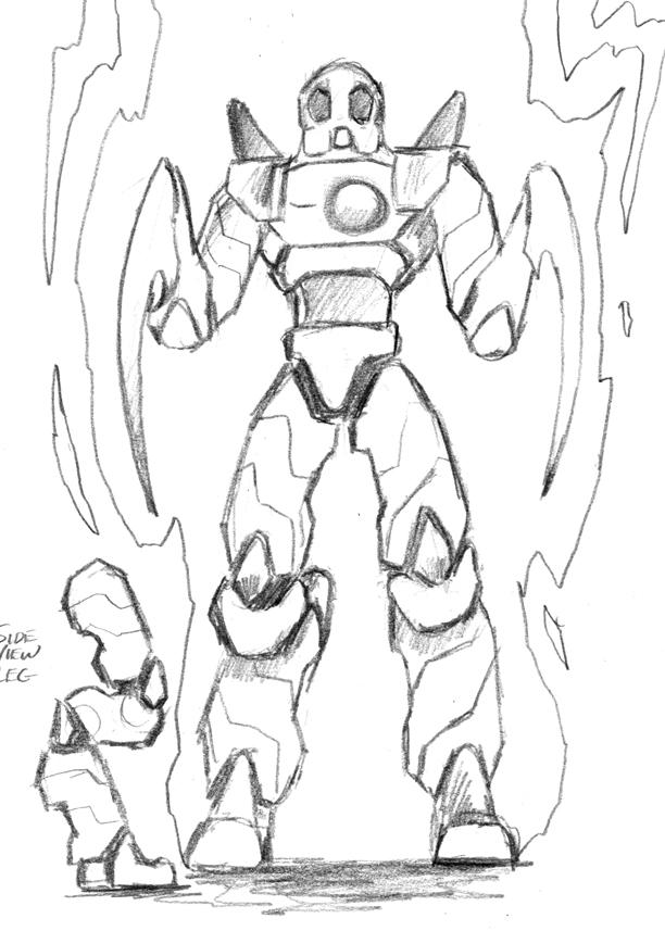 Rough sketch of Mantas Robot