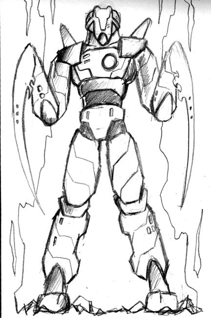 Rough Sketch Mantas Robot