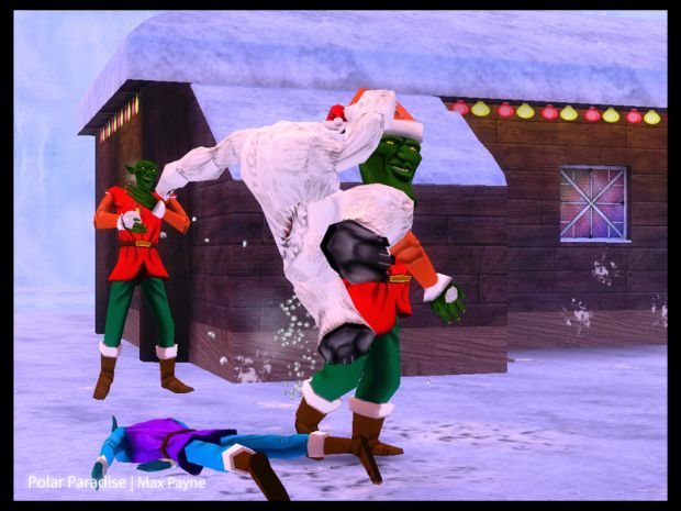 Kung Fu polar bear takes down Giant Killer Elf
