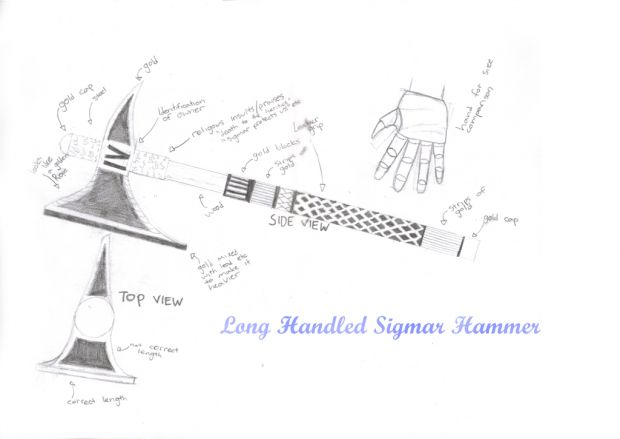concept art - sigmar hammer