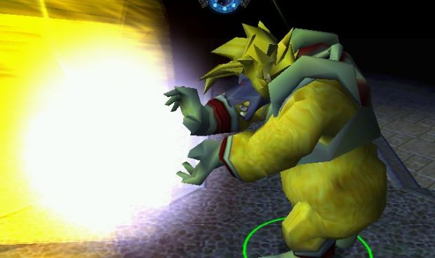 Bebi-Vegeta : Super Gallick Gun : Firing : Side.