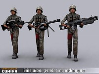 China Sniper, Grenadier and Machinegunner