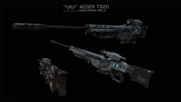 ULA Aeger TS20 Marksman Rifle