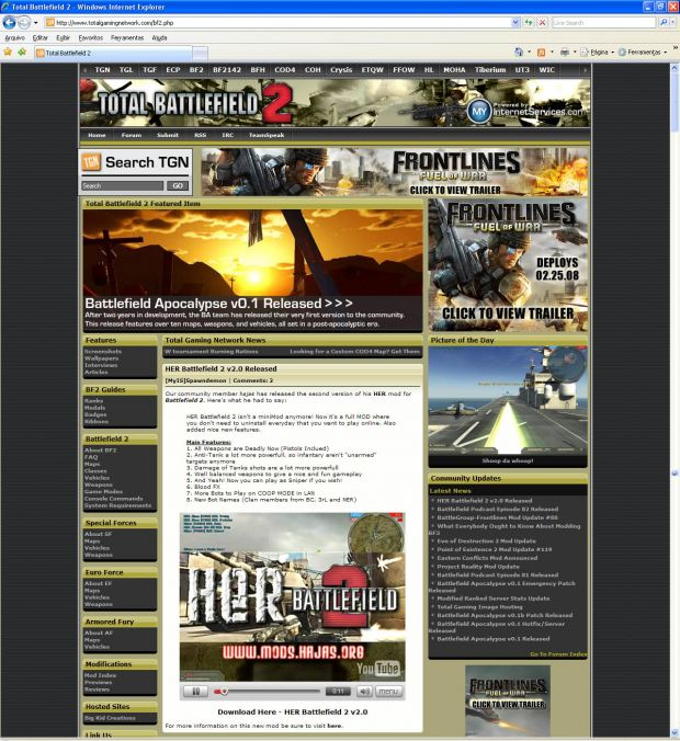 HER Battlefield 2 featured at TGN