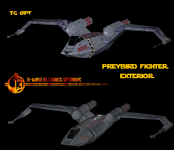 Preybird Fighter Hull Comparison.