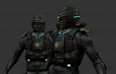 NAC - Heavy Armoured Soldier - Jungle Colours