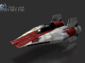 A-Wing Normal and Specular Map Render