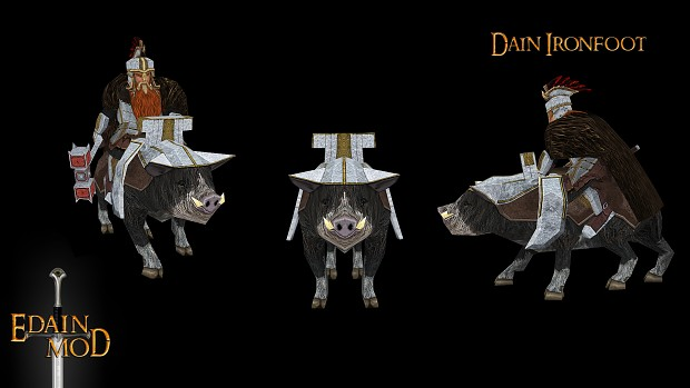 Dain Ironfoot on his boar