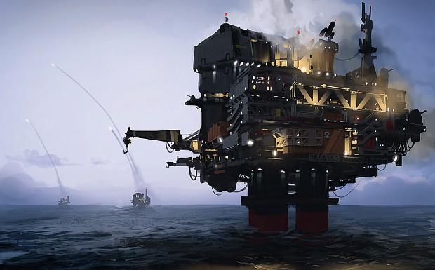 Oil rig concept