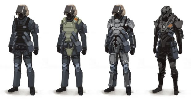 Concept Art - Soldiers and Plasma Pistol