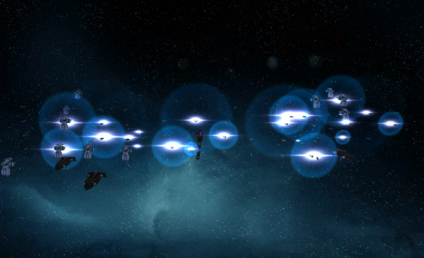 The fleet exits hyperspace