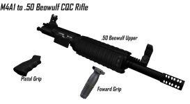 M4A1 to .50 Beowulf  CQC Rifle