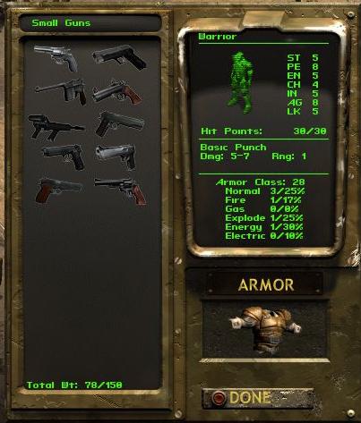 Pistols in Inventory