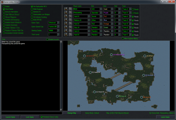 DTA 1.13 - CnCNet Game Lobby image - Dawn of the Tiberium ... Map Dta on