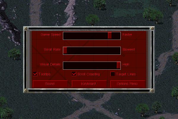 Ingame Options Soviet GUI