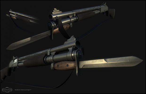 *FIXED Custom Mossberg 590 w/ Bayonet and Sling