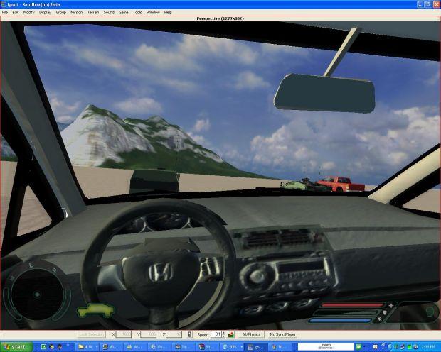 Alpha Honda fit Interior that i exported