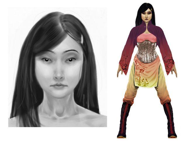 Lucia Coloured + Face.