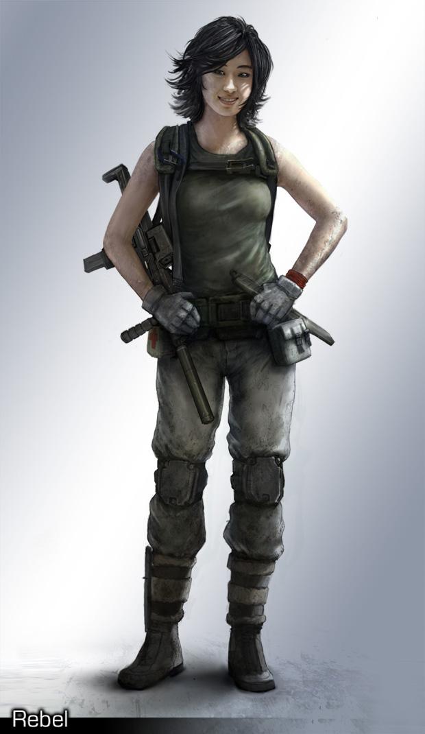 Rebel character concept