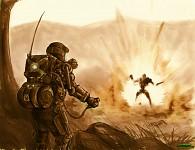 Promotional Sketch: Cyborg Detonation