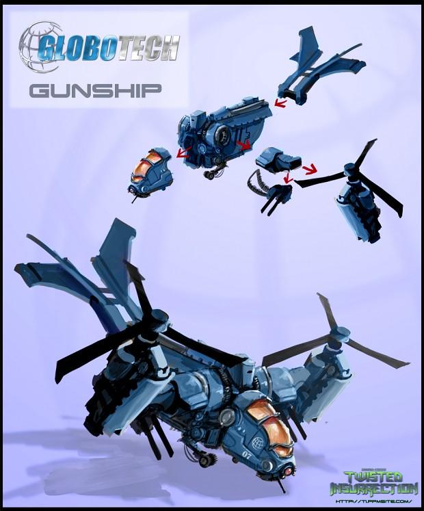 Concept: GloboTech Gunship