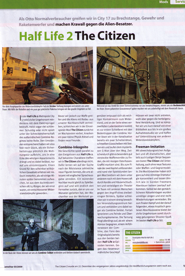 German GameStar magazine scan