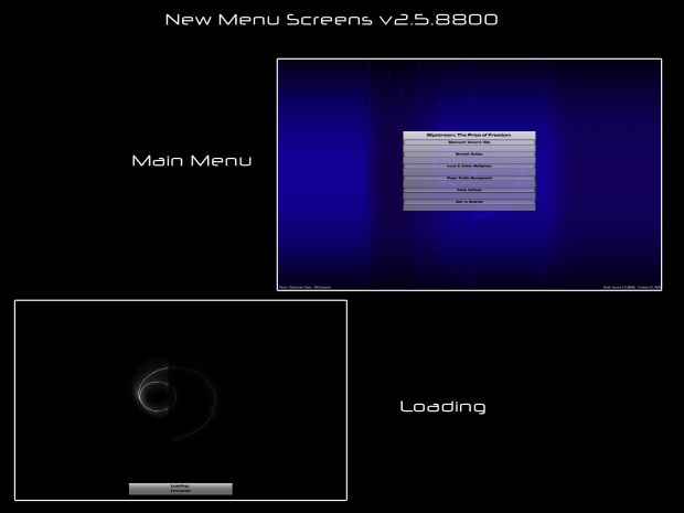 Main Menu & Loading Final Concepts