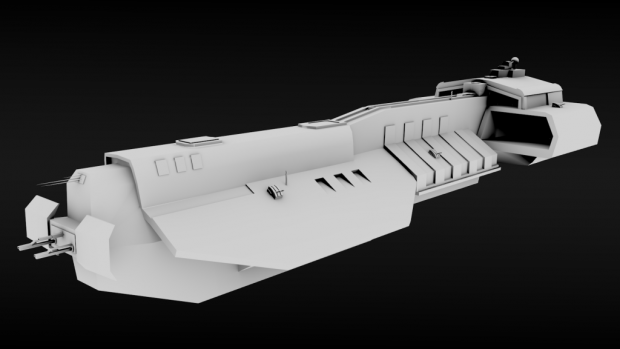 Athens Carrier Model Render