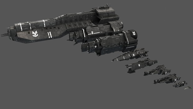 UNSC Fleet Render