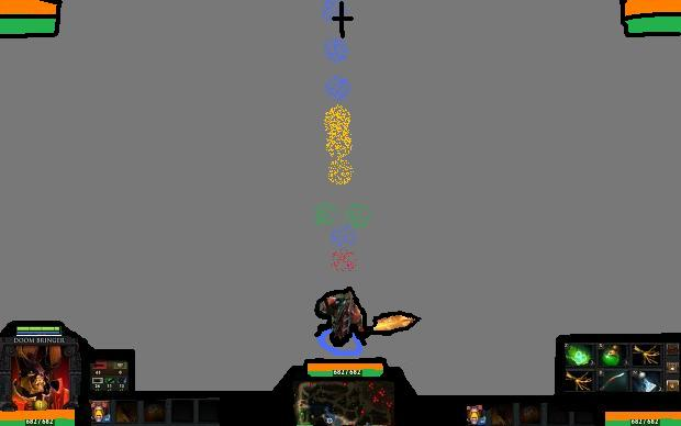Elements of War DotA 2 HUD