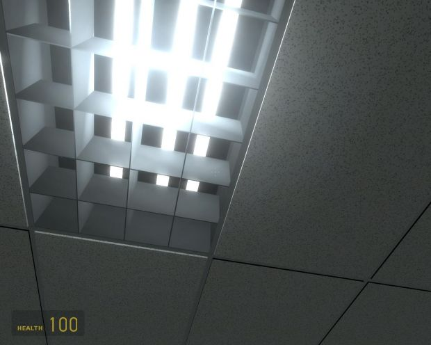 Ceiling Light Fixture With Hdr And 3d Ceiling Tile Image