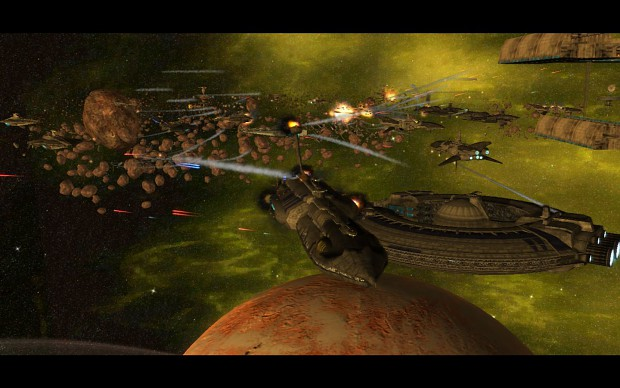 Battle over Geonosis