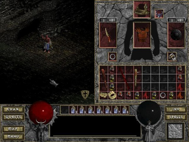 Diablo The Hell Weapon Switch in 1.196