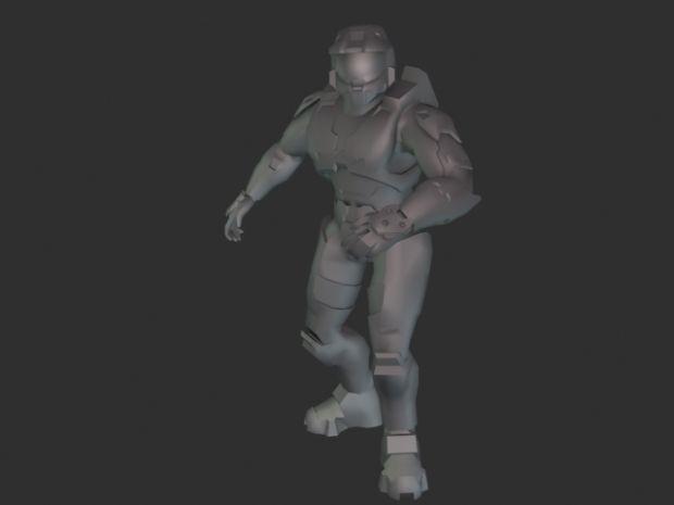 Halo 3 Spartan Rigged