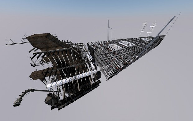 Frame view - forward cargo holds