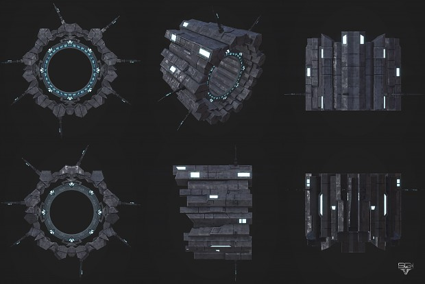 Asuran Gate Satellite OpenGL Renders