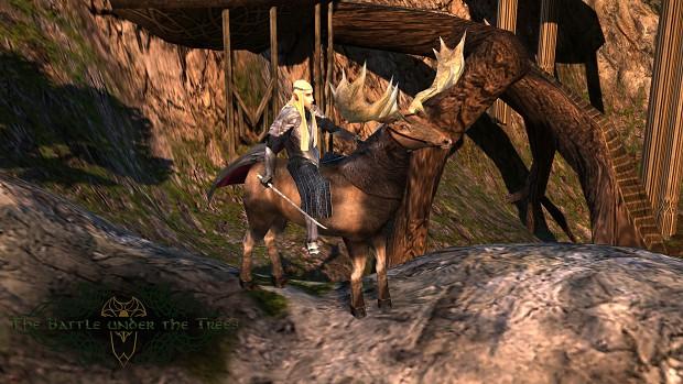 Thranduil Mounted