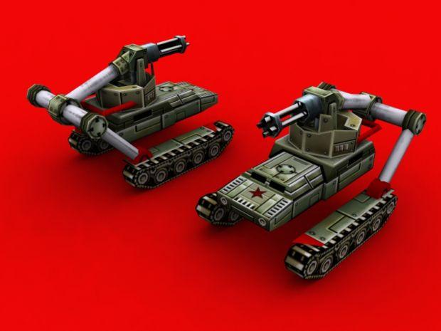China Gattling Tank Render