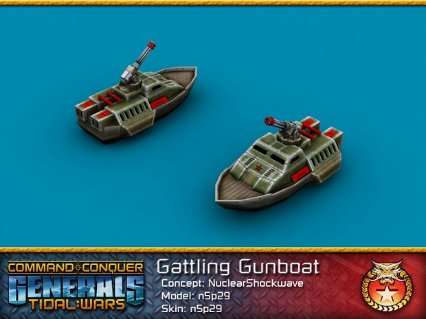 Chinese Gattling Gunboat