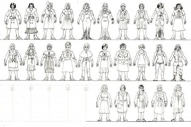 Character design concept sketches
