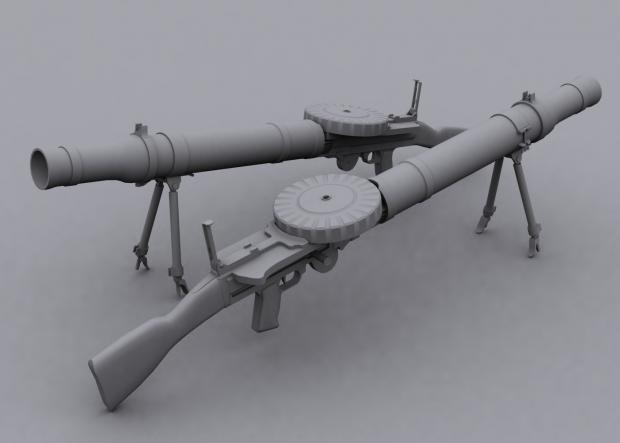 Lewis Gun Render