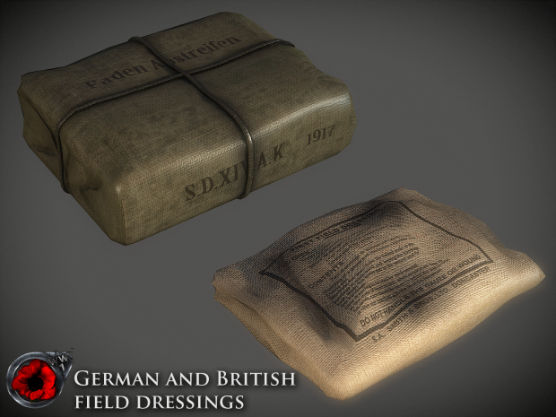 German and British field dressings