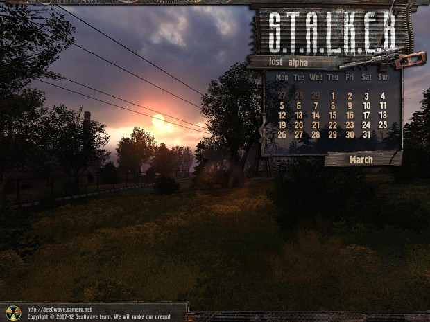 Lost Alpha Calendars - 2012 March