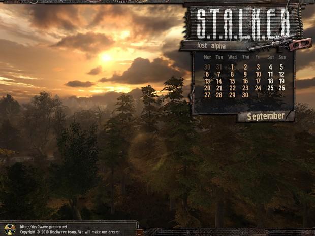 Lost Alpha Calendars - 2010 September