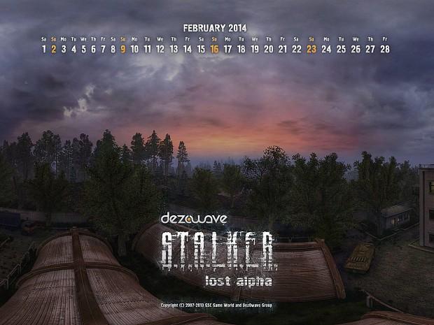 Lost Alpha Calendars, February, 2014.