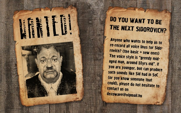 Sidorovich wanted!