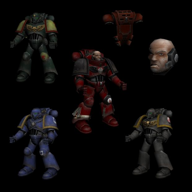 New Space Marine Textures  -WIP-