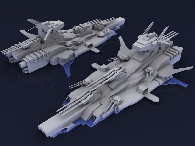 Aerial Battleship Musashi Render
