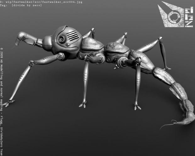 Fastwalker, model finished