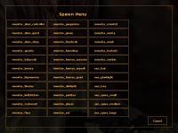 Spawn menu